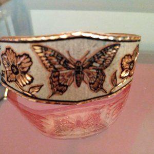 Vintage copper butterfly bracelet